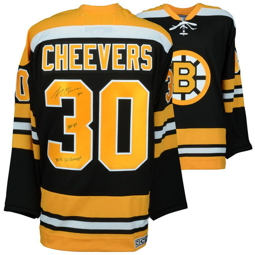 Gerry Cheevers Autographed Boston Bruins Hockey Jersey CCM - Pastime Sports & Games