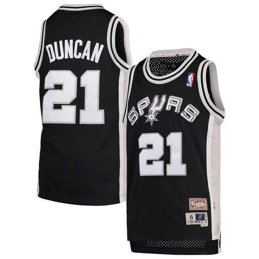 1998/99  Tim Duncan San Antonio Spurs Home Basketball Jersey (Black Mitchell & Ness)