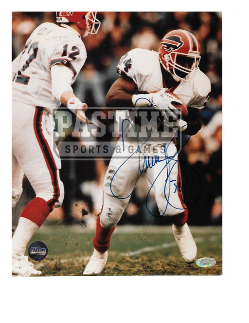 Thurman Thomas Autographed 8X10 Buffalo Bills (Holding Ball) - Pastime Sports & Games