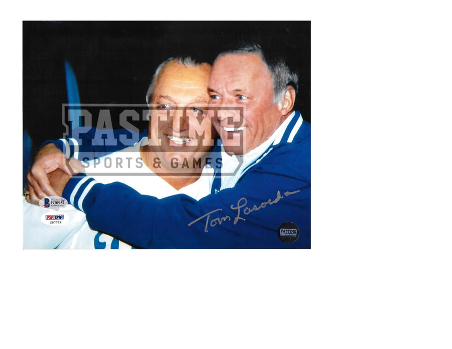Tommy Lasorda Autographed 8X10 Los Angeles Dodgers (Hugging Sinatra) - Pastime Sports & Games