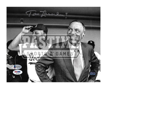 Tommy Lasorda Autographed 8X10 Los Angeles Dodgers (Black and White) - Pastime Sports & Games