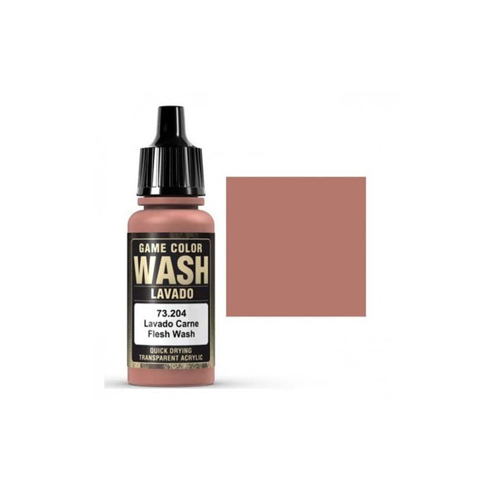 Vallejo Game Wash Paint (73.200 to 73.207) - Pastime Sports & Games