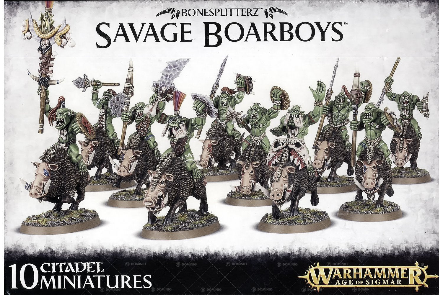 Warhammer Age Of Sigmar: Bonesplitterz Savage Boarboys (89-20) - Pastime Sports & Games