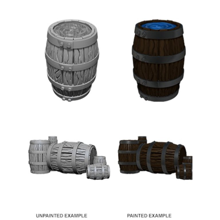 Wizkids Deep Cuts Miniatures Barrel & Pile of Barrels (73361) - Pastime Sports & Games