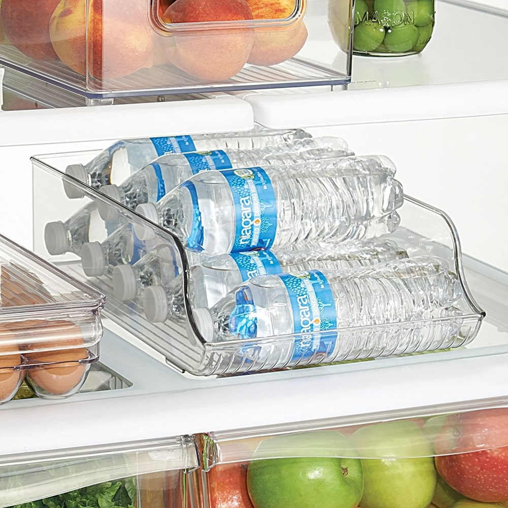 bottle dispensers will keep your water and soft drink bottles organised in your fridge