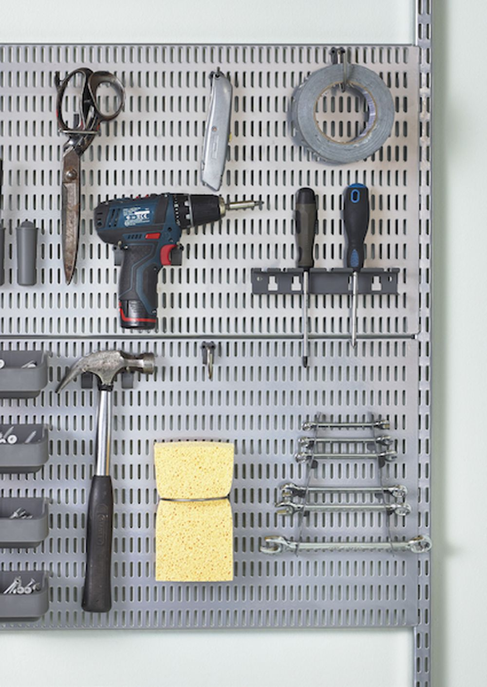 Tool storage board with Elfa
