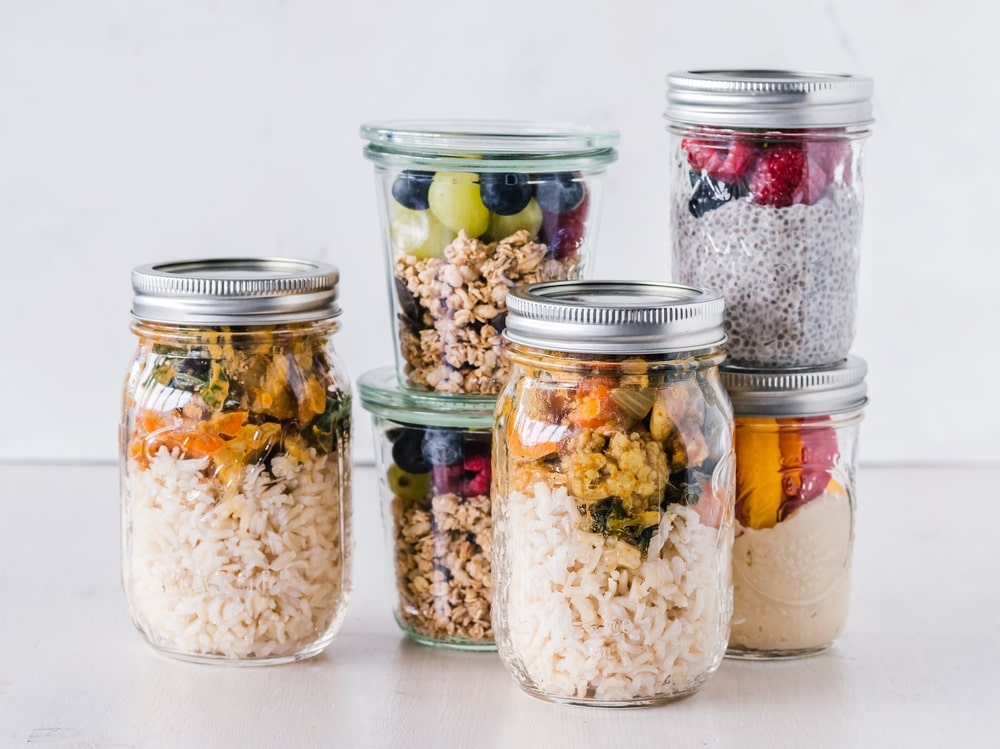 glass meal prep containers are a great way to keep your fridge organised