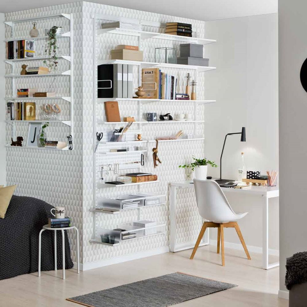 Creating office space with Elfa shelving
