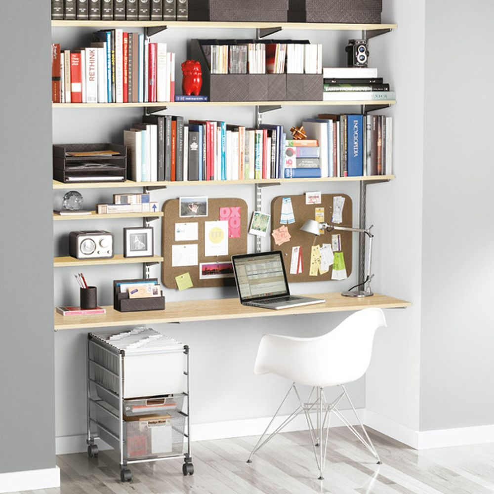 Clever office space with Elfa Shelving