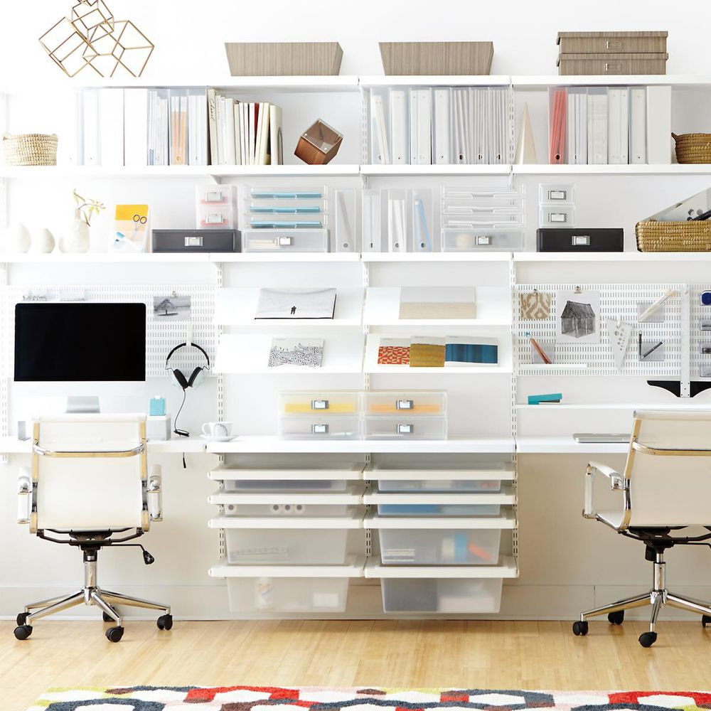 Elfa White Shelving for the office