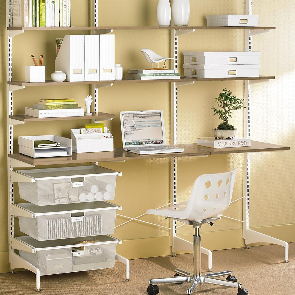 Elfa Office shelving configuration