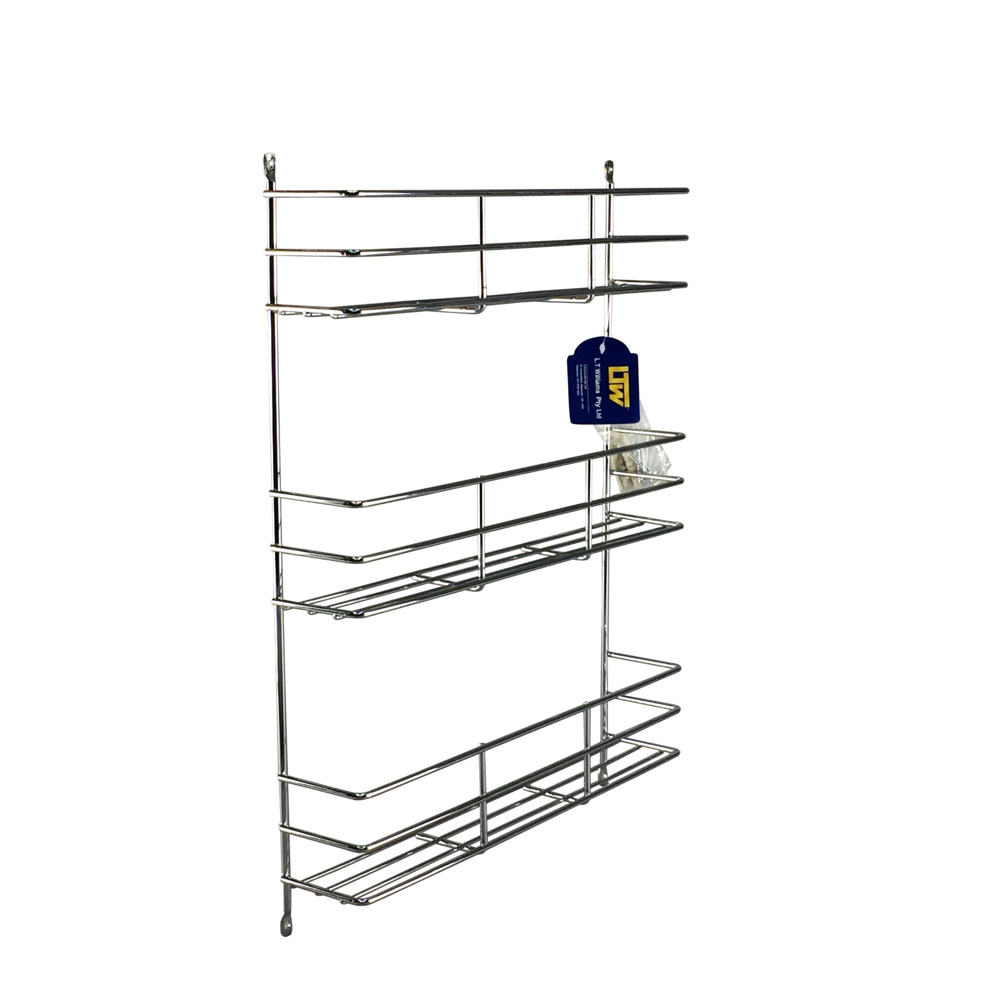Image of: 3 Tier Spice Rack Chrome Storage Solutions Soko Co
