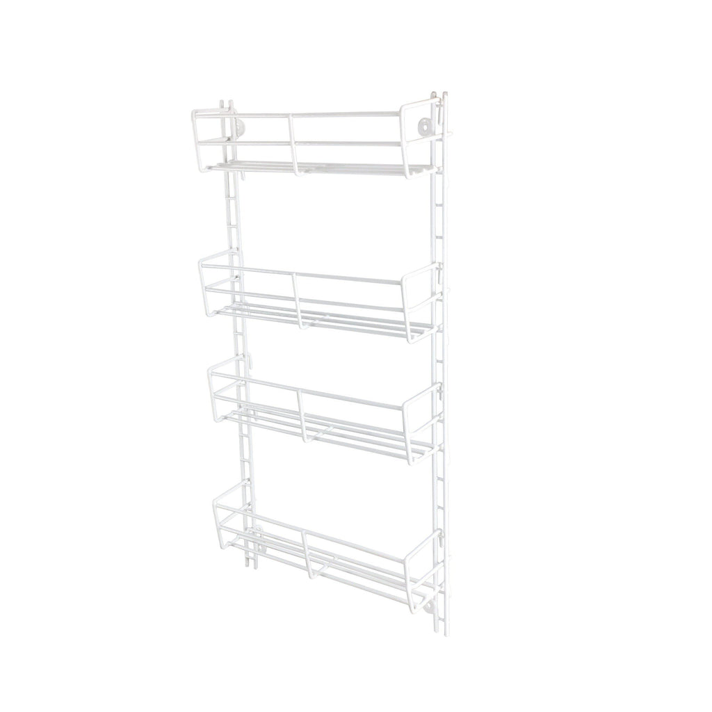 4 Tier Adjustable Spice Rack White - KITCHEN - SPICE RACKS - Soko & Co