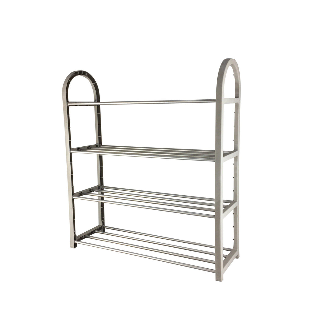 4 Tier Plastic Shoe Rack Grey - Soko & Co