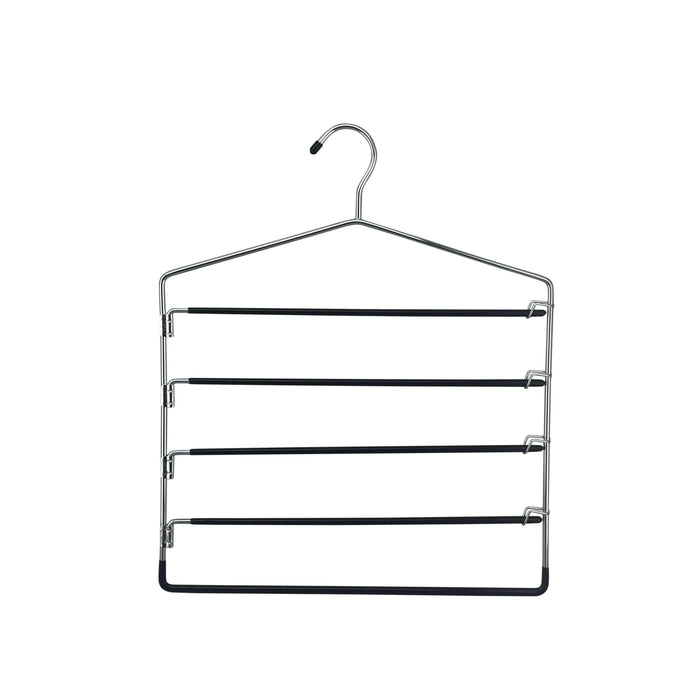 5 Tier Swing Arm Pants Hanger Chrome