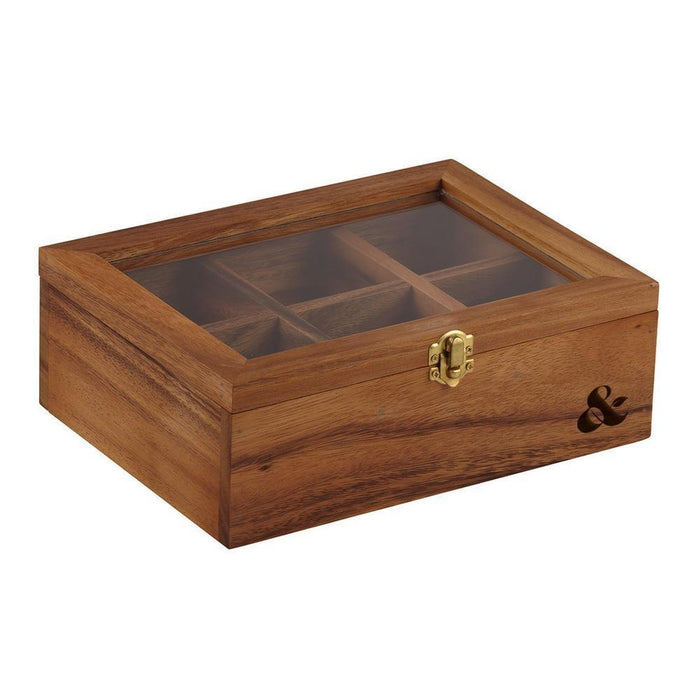 Acacia Wood Tea Box