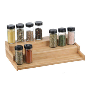 Bamboo 3 Tier Spice Rack - KITCHEN - SPICE RACKS - Soko & Co