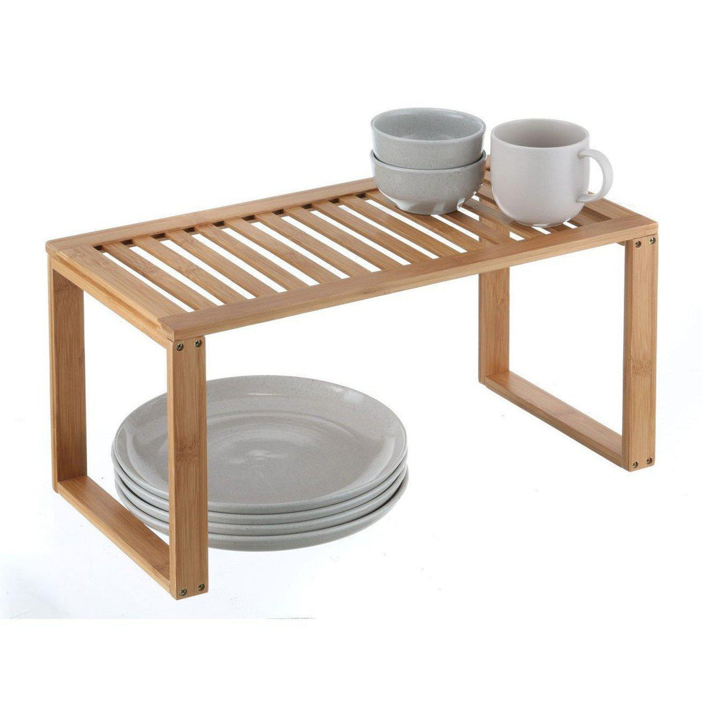 Bamboo Rectangle Shelf - KITCHEN - STORAGE & ORGANISERS - Soko & Co