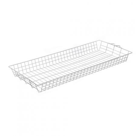Basket For Large Garment Rack White Storage Solutions