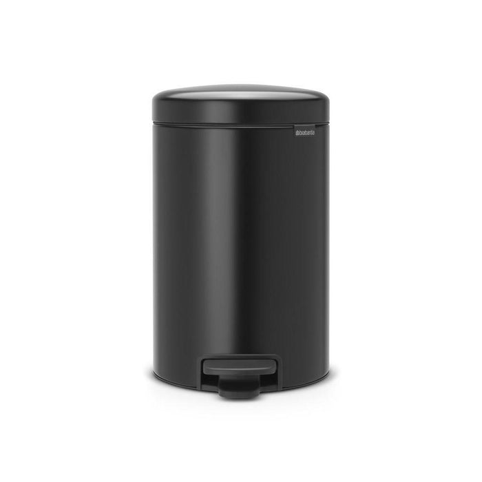 Brabantia 12L Icon Pedal Bin Matt Black