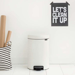 Brabantia 12L Icon Pedal Bin White - Soko & Co