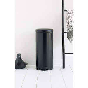 Brabantia 30L Icon Pedal Bin Matt Black - BINS & BOXES - BINS - Soko & Co