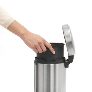 Brabantia 3L Icon Pedal Bin Matt Steel - Soko & Co