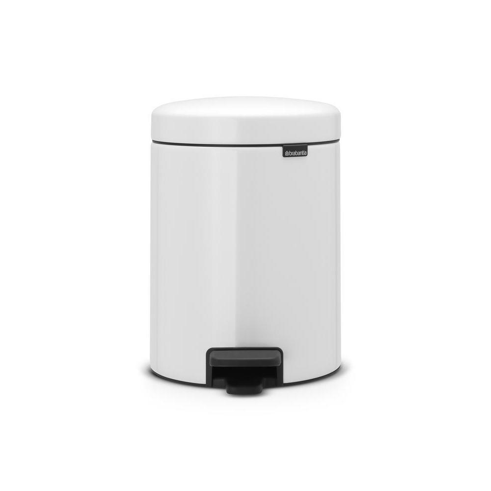 Brabantia 5L Icon Pedal Bin White - BINS & BOXES - BINS - Soko & Co