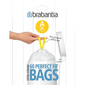 Brabantia Perfect Fit Bin Liner A 3L 60 Pack - Soko & Co