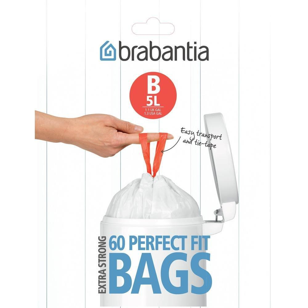 Brabantia Perfect Fit Bin Liner B 5L 60 Pack - BINS & BOXES - BIN LINERS - Soko & Co