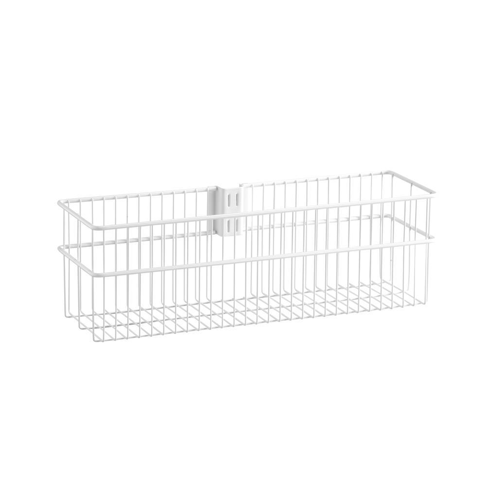 Elfa Wire Utility Basket Large White - ELFA - UTILITY - Soko & Co