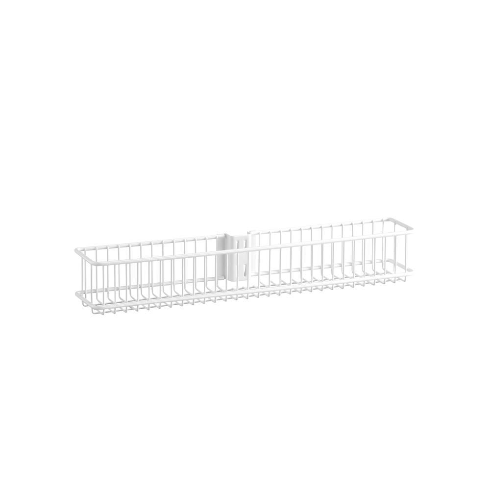 White Small Wire Utility Basket - Soko & Co