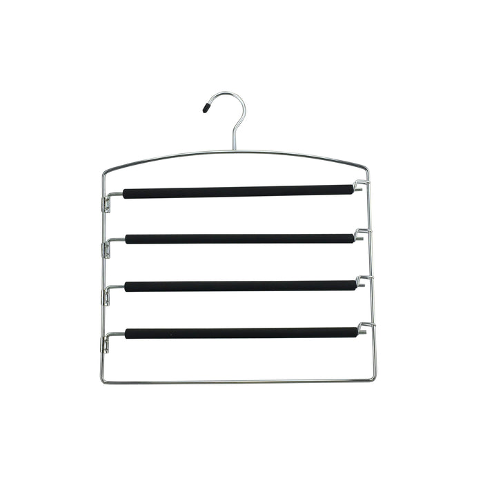 EVA Foam 5 Tier Pants Hanger with Swing Arms