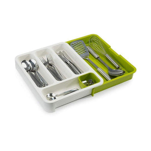 Joseph Joseph DrawerStore Expandable Cutlery Tray White & Green - Soko & Co