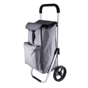 Karlstert Deluxe Aluminium Shopping Trolley Graphite - LIFESTYLE - SHOPPING TROLLEYS & BASKETS - Soko & Co