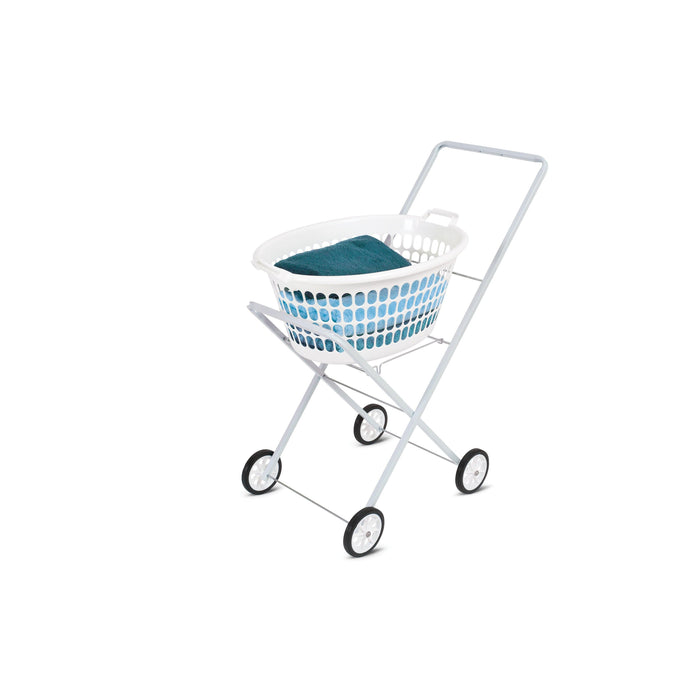 Laundry Trolley White