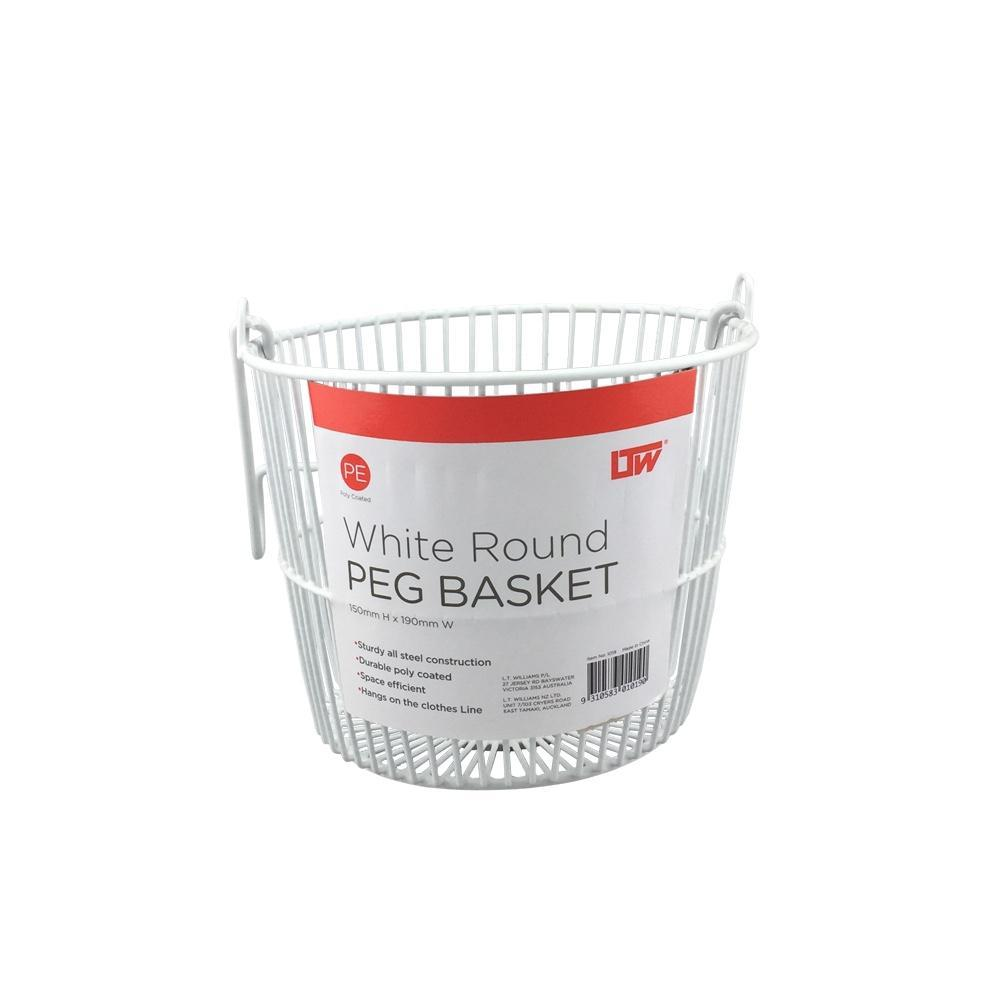 Round Peg Basket White - Soko & Co