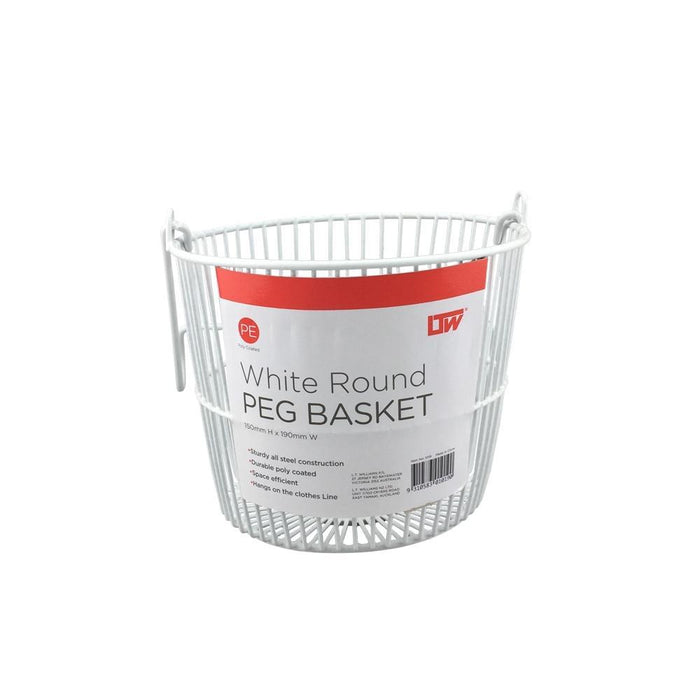 Round Peg Basket White