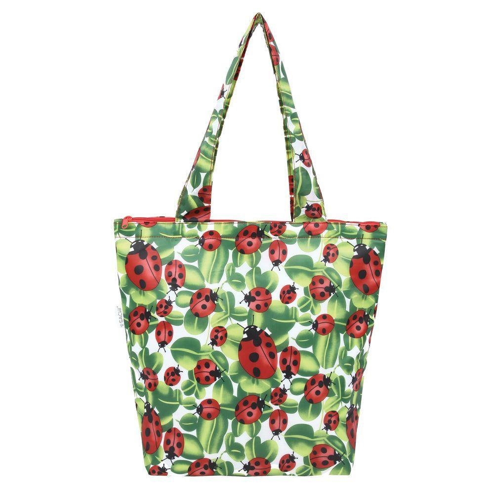 Sachi Insulated Market Tote Lady Bird - LIFESTYLE - REUSABLE BAGS - Soko & Co