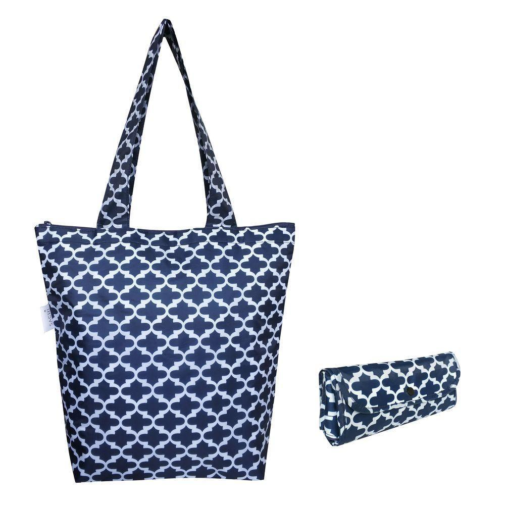 Sachi Insulated Market Tote Moroccan Navy - LIFESTYLE - REUSABLE BAGS - Soko & Co