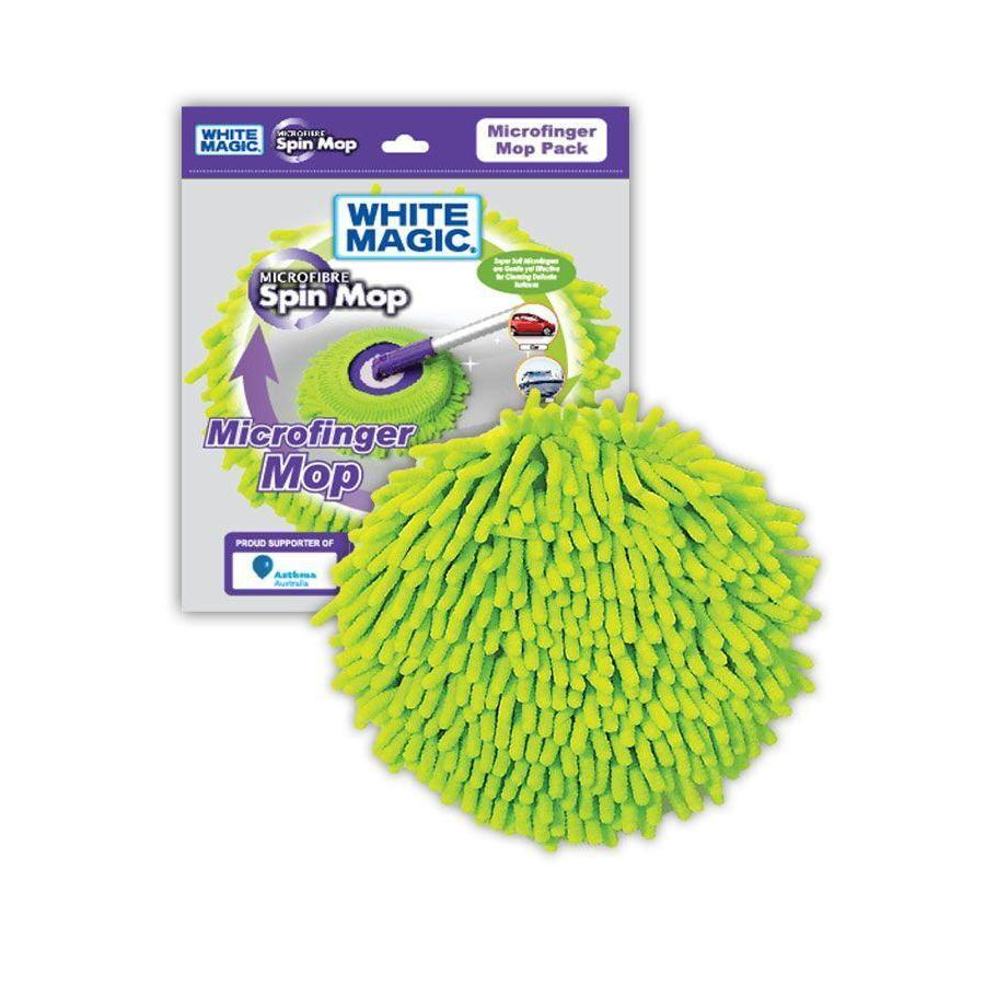 White Magic Microfinger Spin Mop Refill - LAUNDRY - CLEANING - Soko & Co
