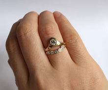 Load image into Gallery viewer, Nishi Curved Diamond Ring