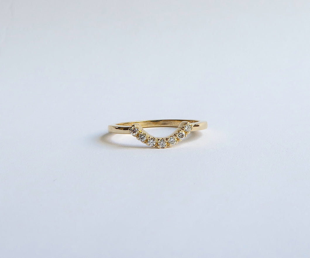 Nishi Diamond Curved Arch Gold Ring