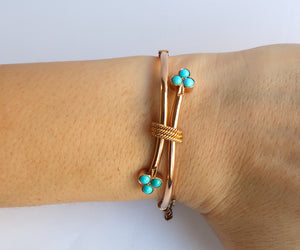 Nishi Antique Victorian Turquoise and Gold Bracelet