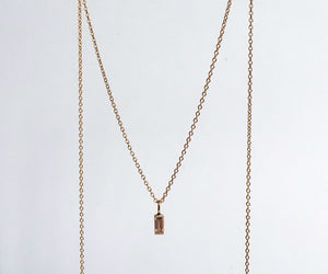 Nishi Diamond Baguette Gold Necklace