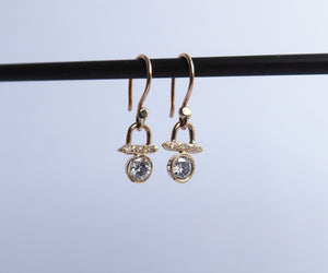 Nishi Bezel Set Diamond Earrings