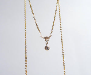Nishi Diamond Yellow Gold Bell Necklace