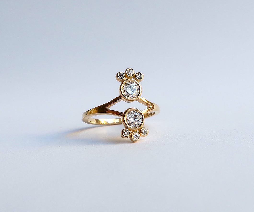 Nishi Diamond Mirror Gold Ring