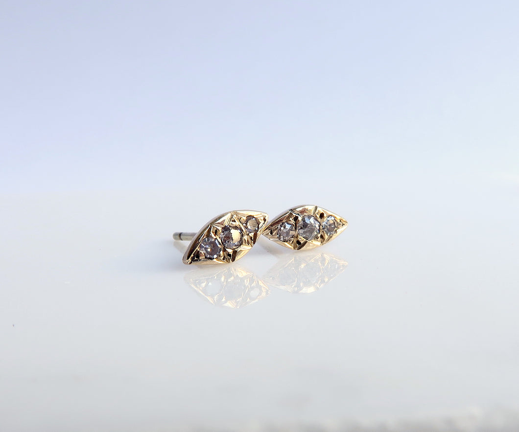 Nishi Kite Diamond and Gold Studs
