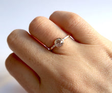 Load image into Gallery viewer, Nishi Old Mine Cut Bezel Set Diamond Solitaire Gold Ring